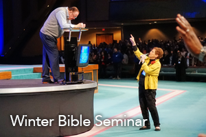 Rev. Kenneth W. Hagin and Billye Brim at Winter Bible Seminar