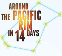 Around the Pacific Rim in 14 Days
